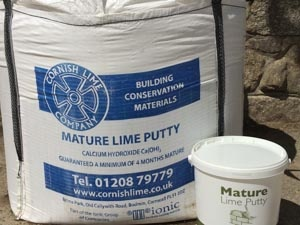 Natural Lime Putty for Restoration and New Build Projects