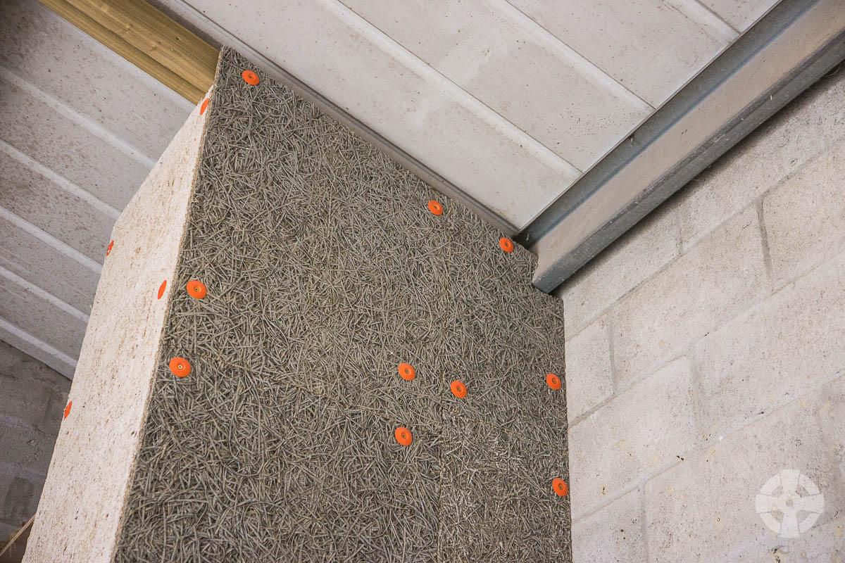 Celenit woodwool fibre board in newbuild